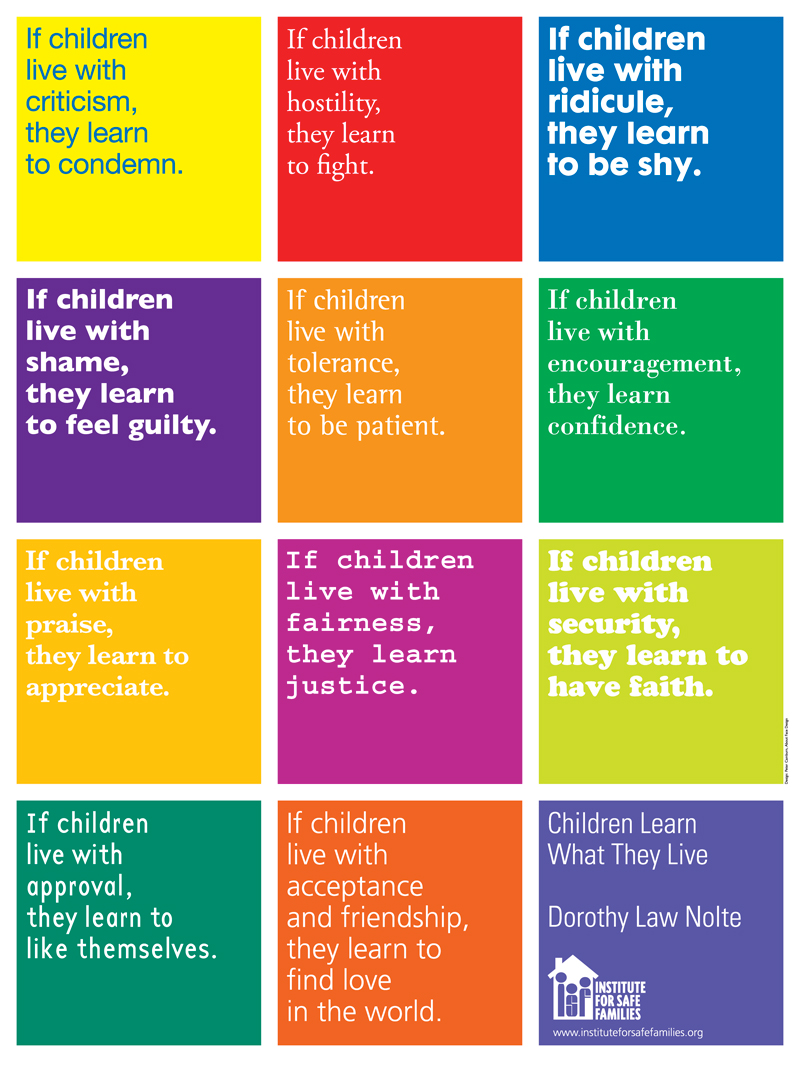 Children Learn What They Live - thepinoysite.com