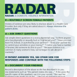 Adult R.A.D.A.R card front side