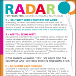 Pediatric R.A.D.A.R. card