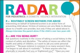 Pediatric R.A.D.A.R. card
