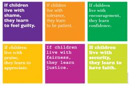 """Graphic Design of """"Children Learn What They Live"""""""
